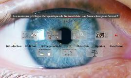 Les nouveaux privilèges thérapeutiques de l'optométriste: un