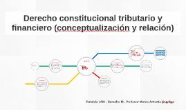 Derecho constitucional tributario y financiero (conceptualiz