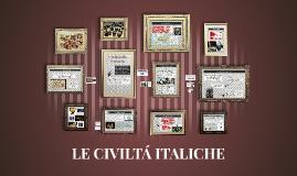 Le civiltà italiche, lav. di gruppo storia