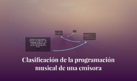 Clasificacion de la programacion musical de una emisora