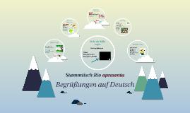 Deutschunterricht Begrüßungen auf Deutsch