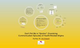 Examining Communication Episodes of Health-Related Stigma