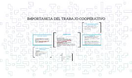 IMPORTANCIA DEL TRABAJO COOPERATIVO