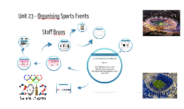 Copy of Unit 23 - Organising Sports Events