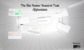 The Kite Runner Research Task - Afghanistan