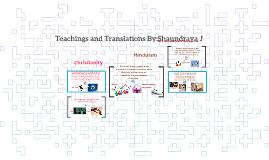 Teachings and Translations By:Shaundraya J