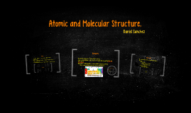 Atomic and molecular stucture