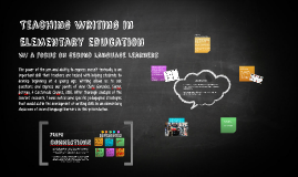 Teaching Writing in Eleementary education