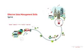 Effective Sales Management Skills, Sprint August 2014