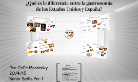 Cultural comparison: comida
