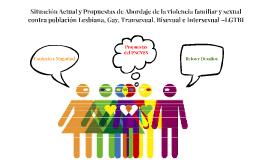 Situacion Actual Programa Contigo Abordaje en violencia familiar y sexual de población Lesbian