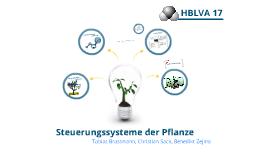 Steuerungssysteme der Pflanze