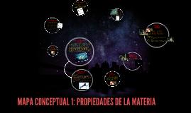 MAPA CONCEPTUAL 1: PROPIEDADES DE LA MATERIA