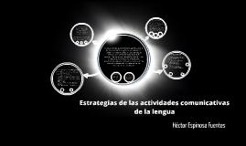 Estrategias de las actividades comunicativas de la lengua