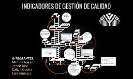 INDICADORES DE GESTIÓN DE CALIDAD