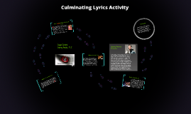 Culminating Lyrics Activity