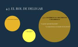 4.7. EL ROL DE DELEGAR
