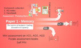 Paper 1 - Memory (1-3)