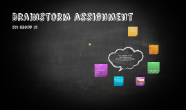 Brainstorm assignment