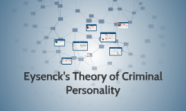 eysenck s theory of personality and crime The rationale of the personality effects in eysenck's theory of criminality (eysenck,   psychoticism may be related to criminal behaviour as it makes a person.