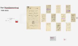 Der Mandatsvertrag von 1922