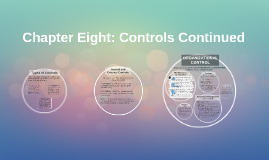 Chapter Eight: Controls Continued
