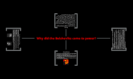 Why did the Bolsheviks come to power?