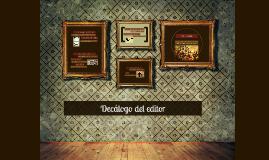 Decálogo del editor