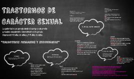 TRASTORNOS DE CARACTER SEXUAL