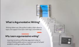Argumentative Writing Intro