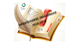 ORIENTACIONES PEDAGOGÌCAS 2015-2016