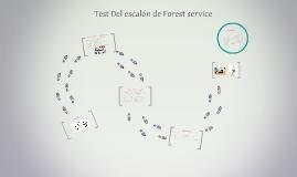 Test Del escalon de Forest service