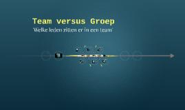 Team versus Groep