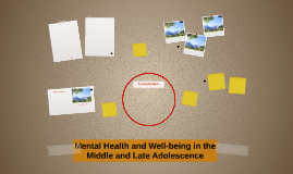 Copy of Mental Health and Well-being in the Middle and Late Adolesce