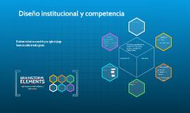 Diseño institucional y competencia