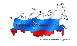 Copy of Оросын Холбооны Улс
