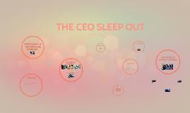 THE CEO SLEEP OUT!
