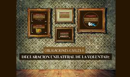 DECLARACION UNILATERAL DE LA VOLUNTAD: