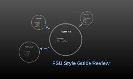 FSU Style Guide