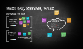 First day, meeting, week