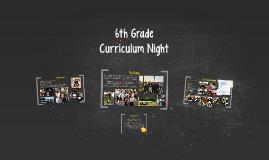 6th Grade Curriculum Night
