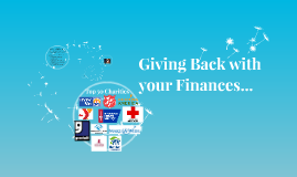 Giving Back with your Finances..