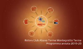 Rotary Club Abano Terme Montegrotto Terme , 2019-20
