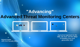 "Old version of ""Advancing"" Advanced Threat Monitoring Centers"