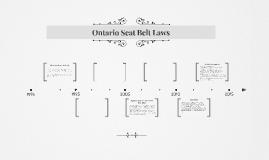 Ontario Seatbelt Laws