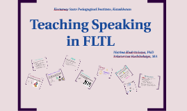 Teaching Speaking in FLTL