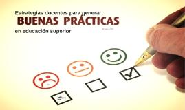 Estrategias docentes para mejorar la práctica en educación s