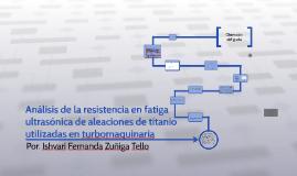 Análisis de la resistencia en fatiga ultrasónica de aleacion