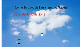 Evento Europeo Barranquismo