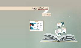 Page d'écriture
